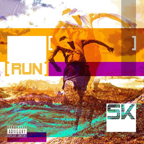 Entertainment artwork with the title 'Logo for album RUN, SK'