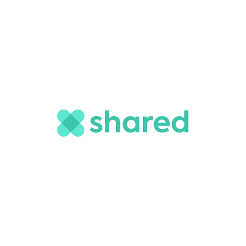 Shape design with the title 'Friendly logo design for Shared'