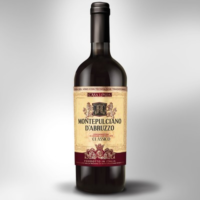 Vintage Label for Italian wine Montepulciano D'Abruzzo
