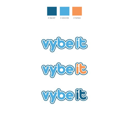 Vibe logo with the title 'Logo design for company that train young talented software developers'
