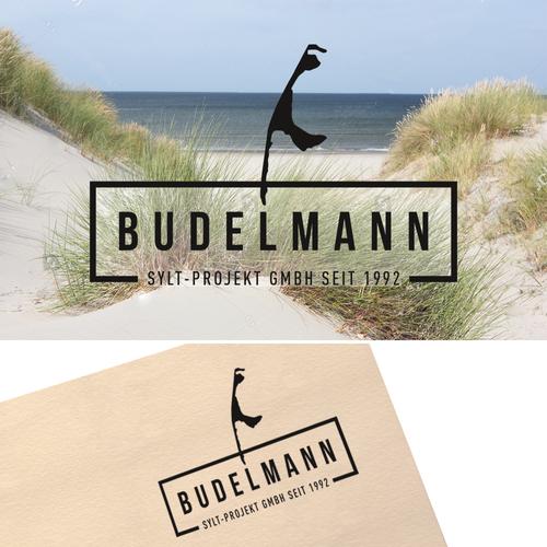 """Corporate design logo with the title 'Modernes und anspruchsvolles Logo für die """"Budelmann Sylt-Projekt GmbH""""'"""