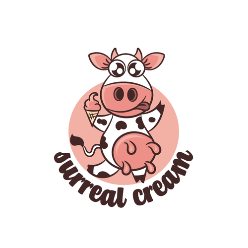 Cream logo with the title 'Sweet Cow'