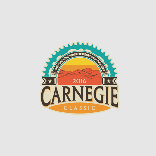 Motocross design with the title 'the carnegie classic'