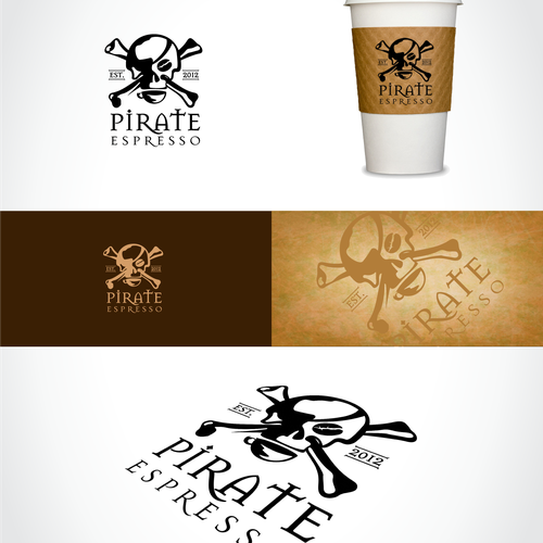 Pirate logo with the title 'logo for Pirate Espresso'