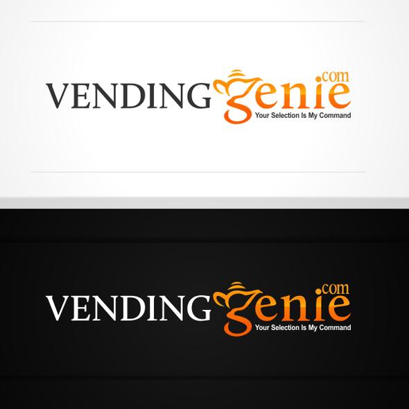 Vending logo with the title 'Create the next logo for VendingGenie.com'