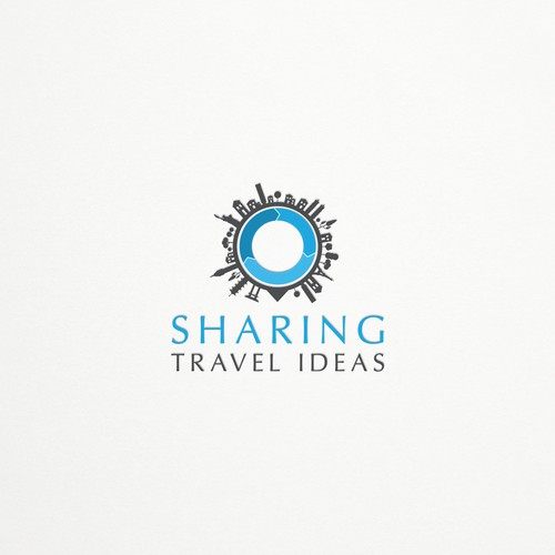Landmark logo with the title 'SharingTravelIdeas'