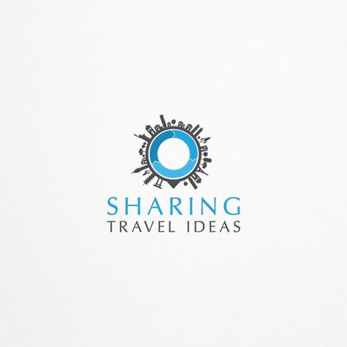 Landmark logo with the title 'SharingTravelIdeas'