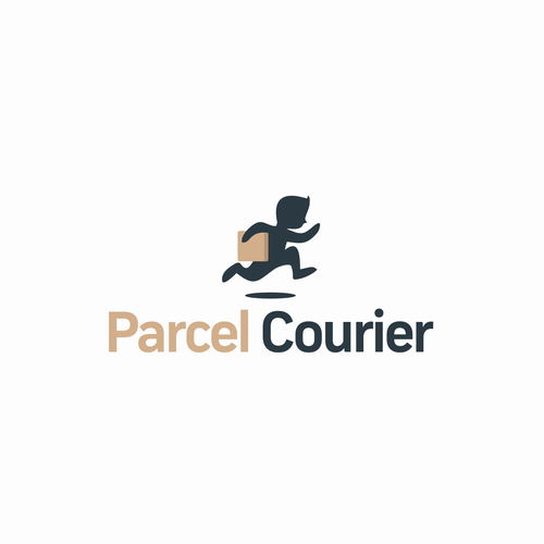 Courier logo with the title 'ParcelCourier'