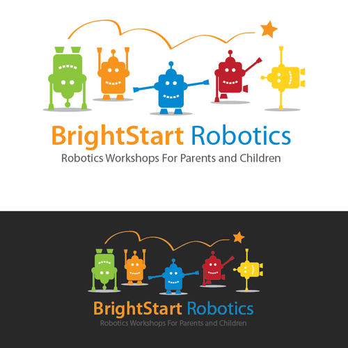 Robotics design with the title 'Create the next logo for BrightStart Robotics'