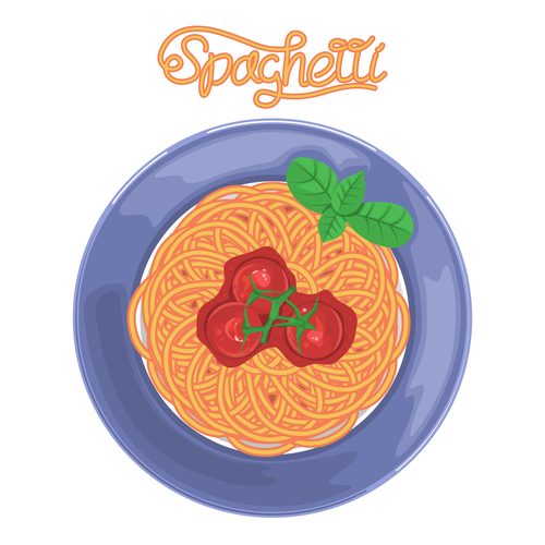Spaghetti design with the title 'Concept cover for the book'