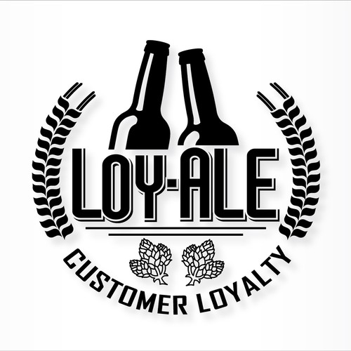 Ale logo with the title 'Craft beer logo for a customer loyalty program'