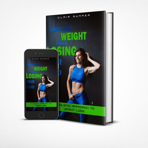 Weight-loss book cover with the title 'weight loss ebook design '