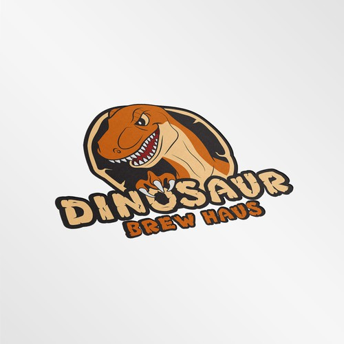 Wild illustration with the title 'Design an dinosaur logo for restaurant'