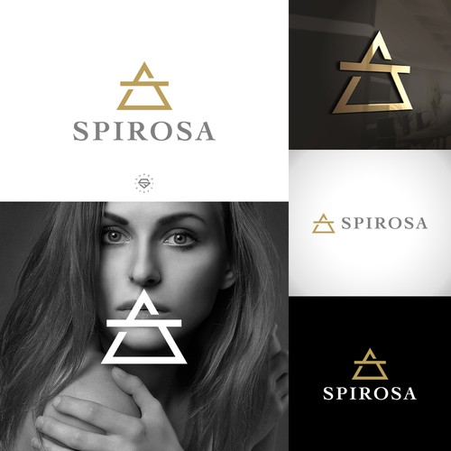 Alchemy logo with the title 'SPIROSA LOGO'