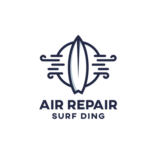 Surf design with the title 'Air Repair logo'