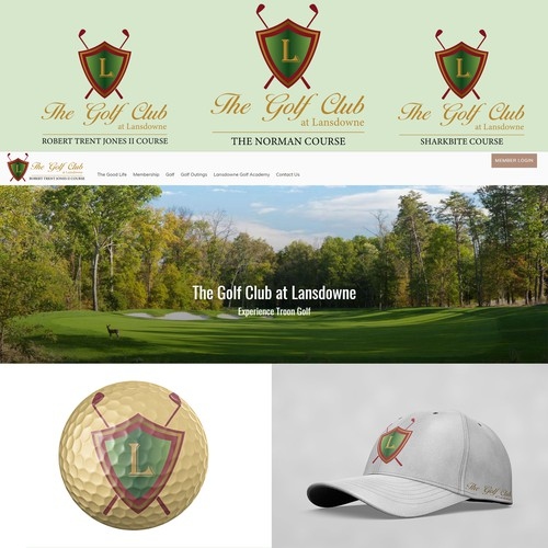 Golf ball logo with the title 'The Golf Club at Lansdowne'