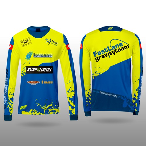 Cycling design with the title 'MTB Jersey'