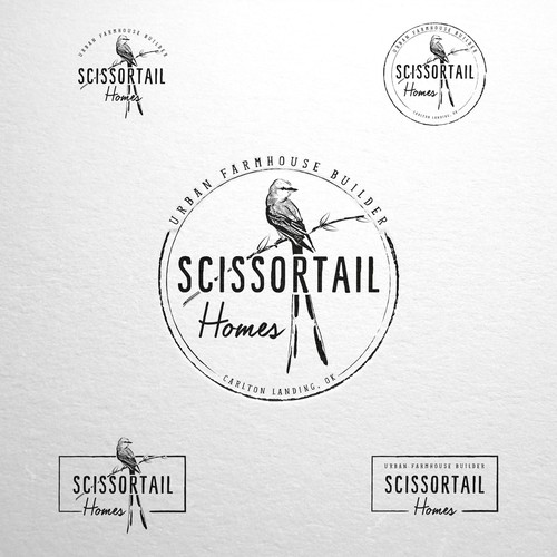 Builder design with the title 'Scissortail logo design'