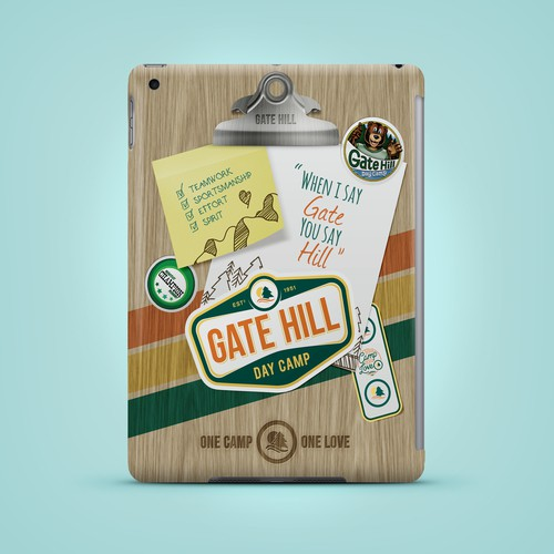 Case design with the title 'Playful iPad Case Design'