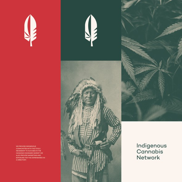 Organic design with the title 'Сannabis brand for indigenous communities'