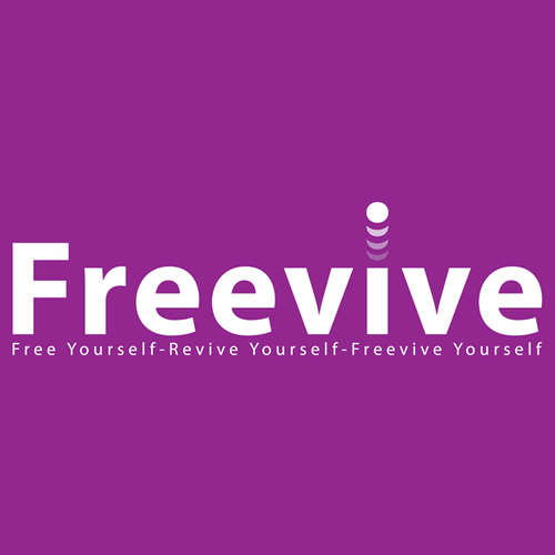 Self-help logo with the title 'Create a simple, modern logo that conveys energy for Freevive'