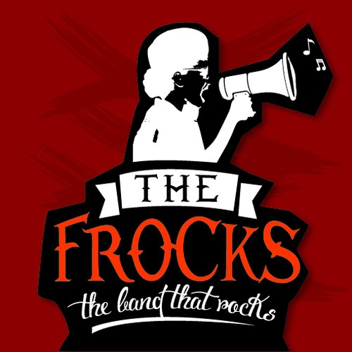 Cut out logo with the title 'logo concept for 'The FROCKS''