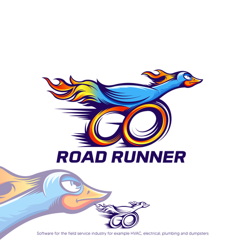 Roadrunner design with the title 'Road Runner'