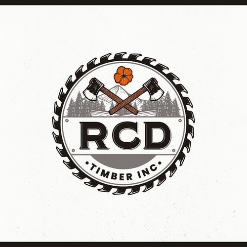 Timber logo with the title 'Design a Pacific NW logo for a family oriented logging company'