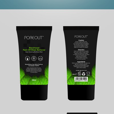 Attractive, fun and appealing Blackhead Peel-Off Mask Bottle Design