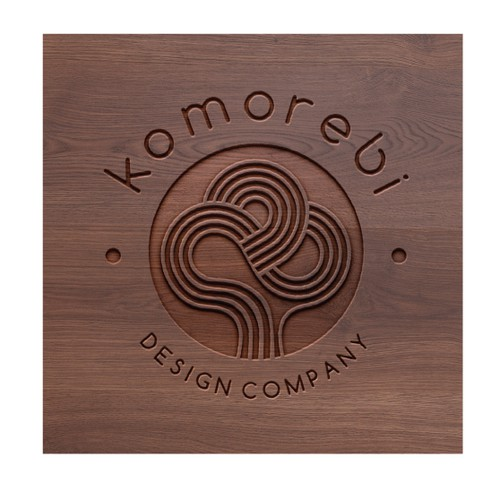 Home logo with the title 'Clean and symbolic logo for hand made contemporary wood furniture '