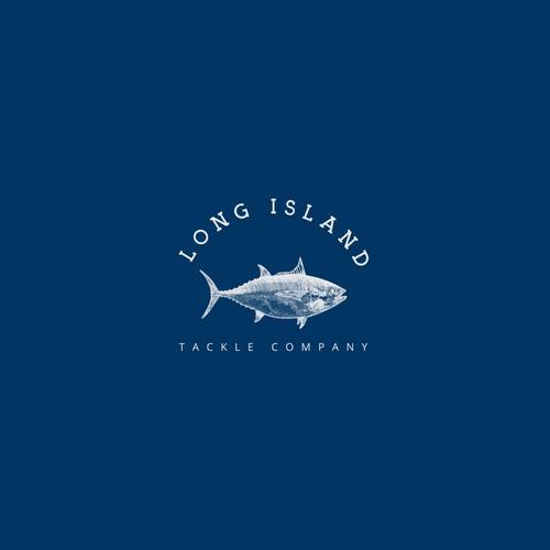 Tuna design with the title 'long island logo proposal'