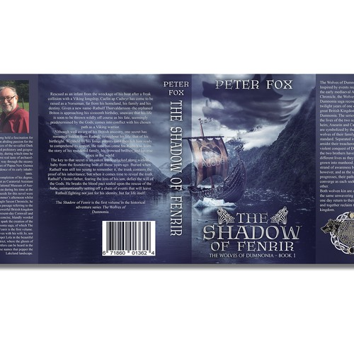 Wolf book cover with the title 'The shadow of Fenrir (version 2)'