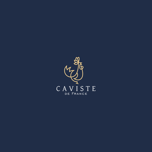 Rooster design with the title 'Caviste de France'