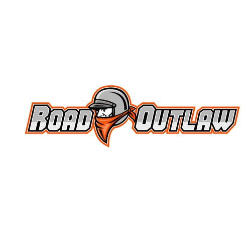Cafe racer logo with the title 'Road Outlaw'