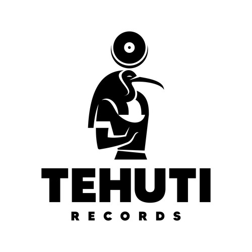 Record label logo with the title 'Egyptian God Thoth Logo'