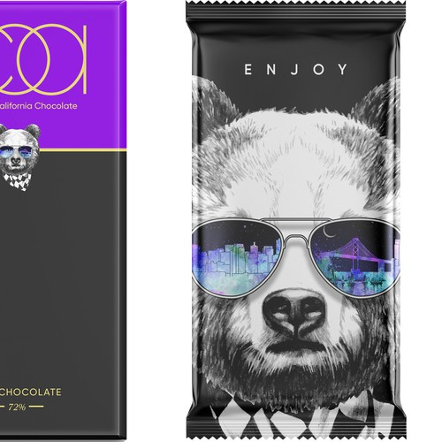 Art packaging with the title 'COA Chocolate Packaging Design'