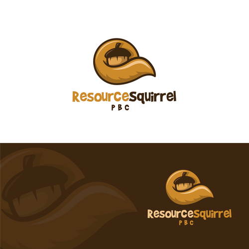 Acorn logo with the title 'Resource Squirrel logo'