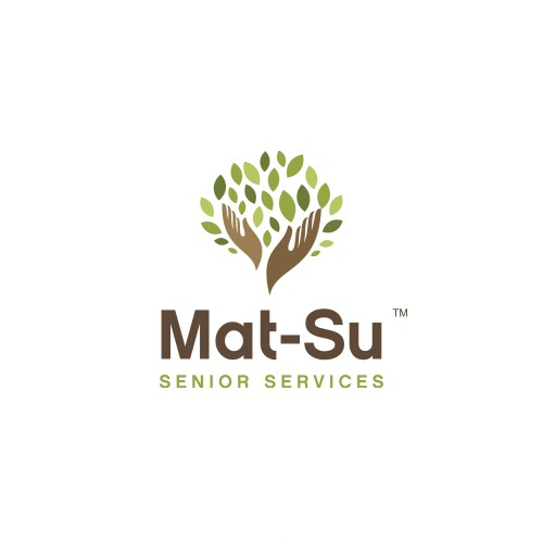 Cedar logo with the title 'Logo design for Mat-Su Senior Services'