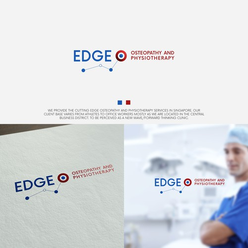 Physiotherapy logo with the title 'EDGE'