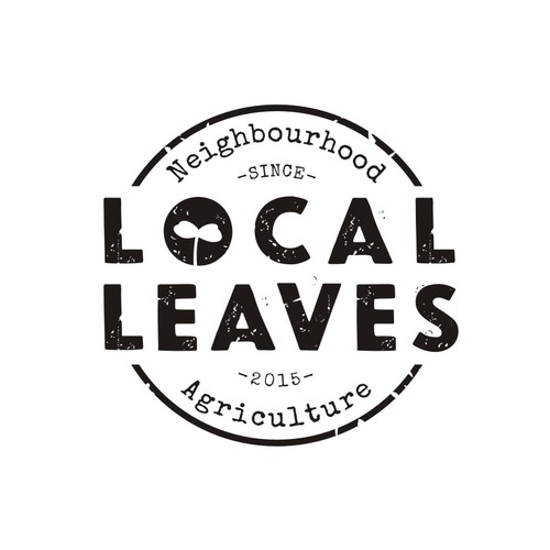 Sustainable design with the title 'Help us push the frontiers of farming with a logo for Local Leaves!'