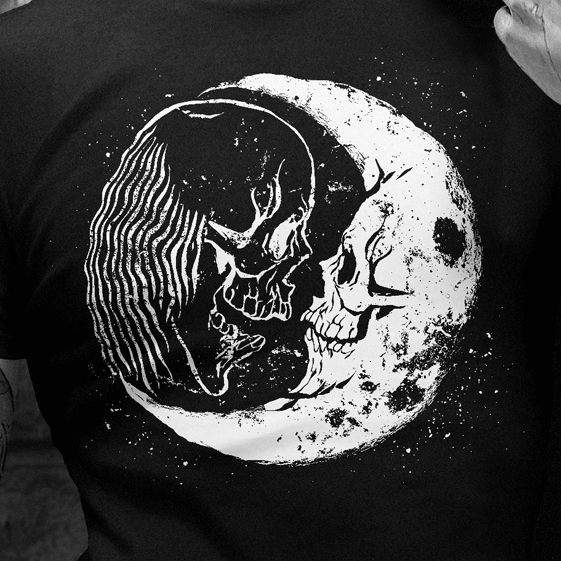 Horror t-shirt with the title 'Scary Halloween Design'