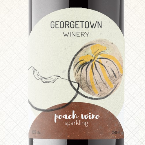 Drawing label with the title 'Wine Label'