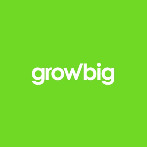 Growth logo with the title 'growbig'