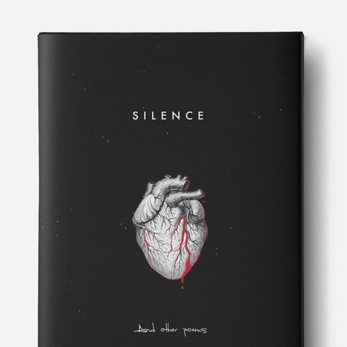 Poetry book cover with the title 'Silence'