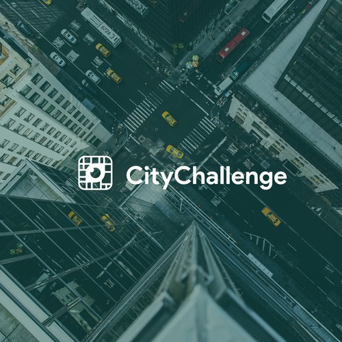 Video game logo with the title 'City Challenge'