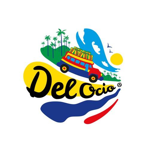 Textile design with the title 'Del Ocio'