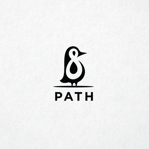 Penguin logo with the title 'Path 8 Logo'