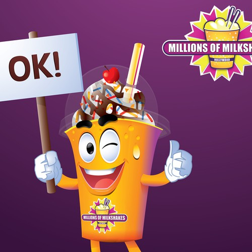 Milkshake design with the title 'Millions Of Milkshakes Mascot'