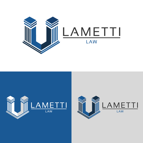Right design with the title 'LAMETTI LAW'
