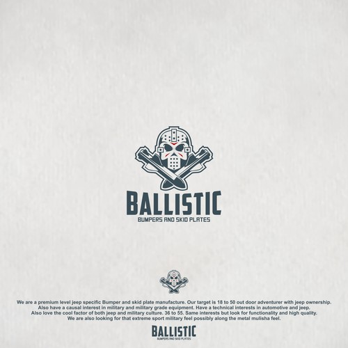 Kick-ass logo with the title 'Proposal desaign for Ballistic'
